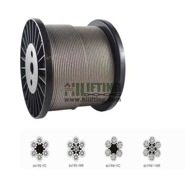 Galvanized Steel Wire Rope 6×19S 6×19W
