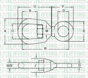 Chain Swivel G-401 Sketch