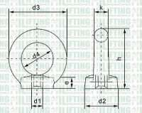 DIN 582 Eye Nuts Sketch