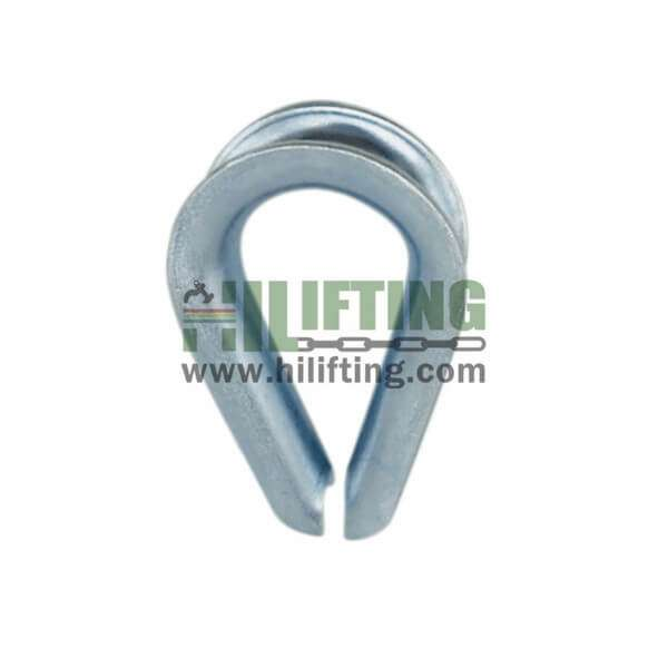DIN6899A Galv Wire Rope Thimbles