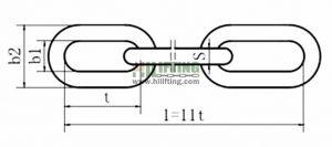 DIN766 Short Link Chain Sketch