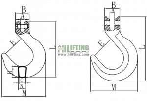 G80 Clevis Foundry Hook Sketch