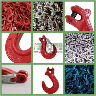 G80 European Type Clevis Sling Hook With Cast Latch Details