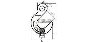 G80 European Type Eye Foundry Hook Sketch