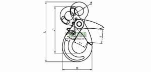 G80 European Type Eye Self-Locking Hook Sketch