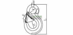 G80 European Type Eye Sling Hook Sketch