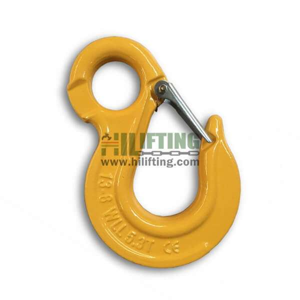 G80 European Type Eye Sling Hook with latch
