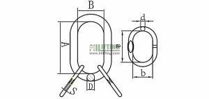 G80 European Welded Master Link Assembly Sketch