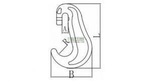 G80 High Tensile Car Trailer Towing Eye Hook Sketch