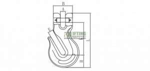 G80 US Type Clevis Grab Hook Sketch