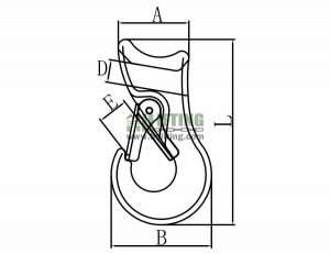 G80 US Type Sliding Choker Hook Sketch