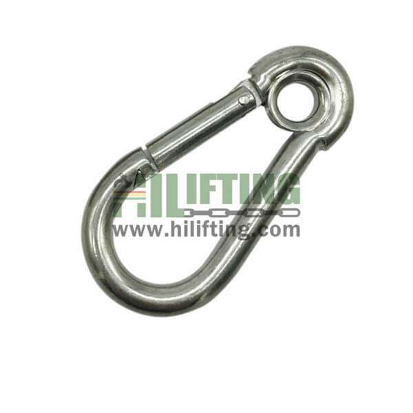 Galvanized Snap Hook With Eyelet DIN5299A
