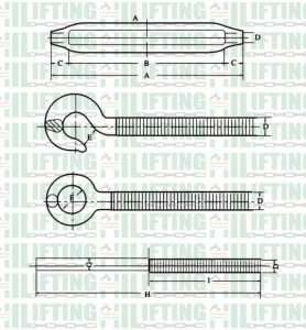 JIS Type Frame Forged Turnbuckles Sketch