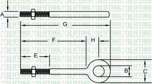 Regular Nut Eye Bolts G-291 Sketch