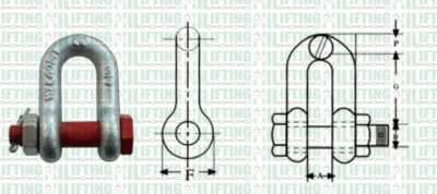 Safety Pin Load Rated D Shackles Sketch