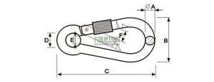 Snap Hook With Screw DIN5299 Form D Sketch