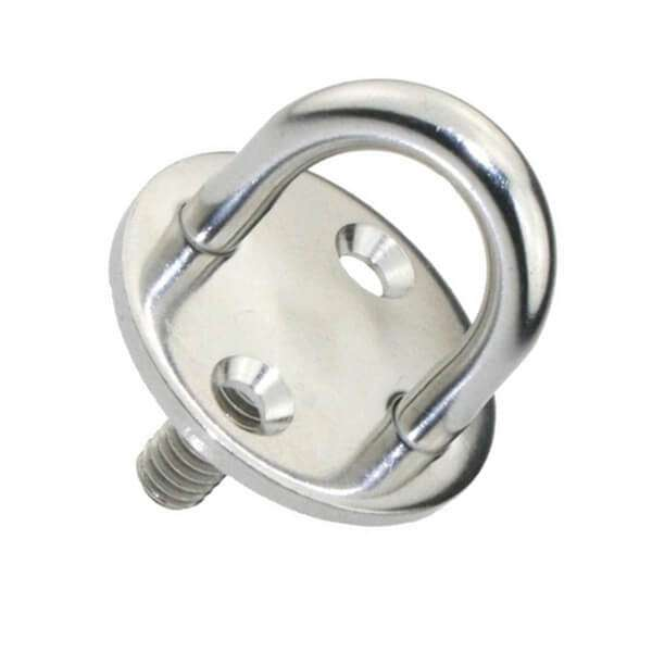 Stainless Steel 316 Round Eye Plate With Thread Stud