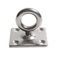 Stainless Steel 316 Square Eye Pad Plate with Swivel Ring