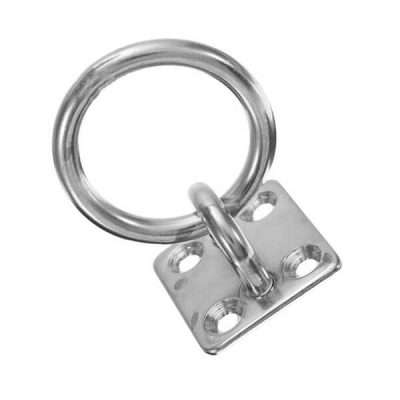 Stainless Steel 316 Square Eye Plate with Ring