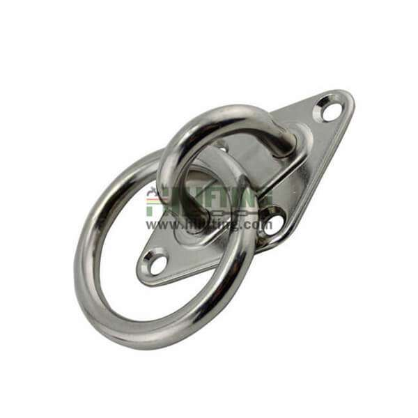 Stainless Steel Diamond Pad Eye with Ring