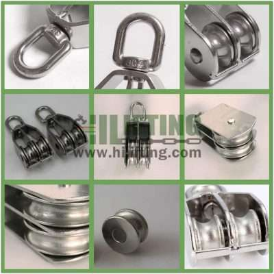 Stainless Steel Double Swivel Eye Pulley Details