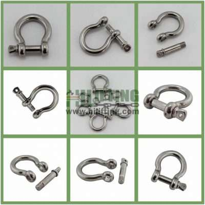 Stainless Steel European Commercial Large Bow Shackle Details