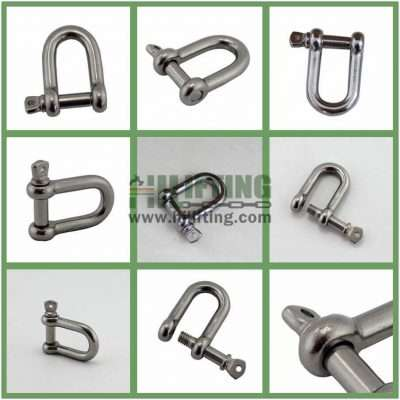 Stainless Steel European Commercial Large D Shackle Details