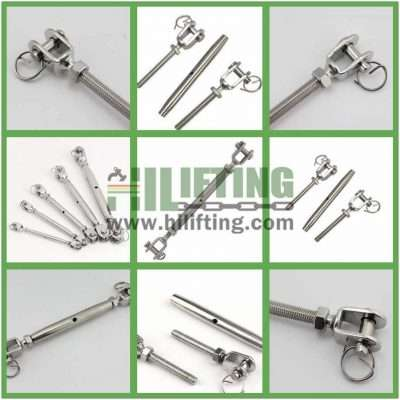 Generic M12 Stainless Steel 304 Closed Body Jaw Jaw Turnbuckle Wire Rope Tension