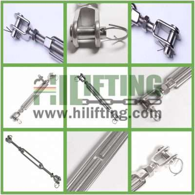 Stainless Steel European Type Turnbuckle Jaw and Jaw Details
