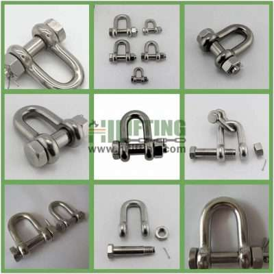 Stainless Steel G2150 Bolt Type Chain Shackle Details