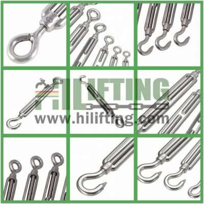 Stainless Steel JIS Type Turnbuckle Eye and Hook Details