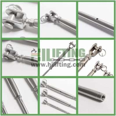 Stainless Steel Jaw and Swage Stud European Type Turnbuckle Details
