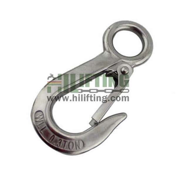Stainless Steel Large Eye Hook With Latch