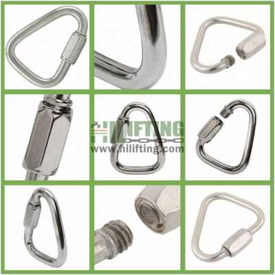 Stainless Steel Quick Link Delta Shaped Details