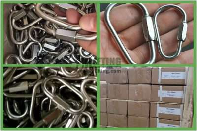 Stainless Steel Quick Link Pear Shaped Packages