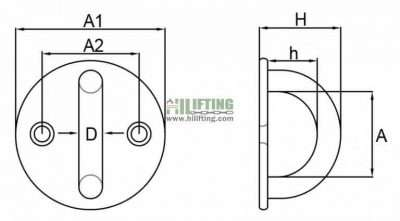 Stainless Steel Round Eye Plate Sketch