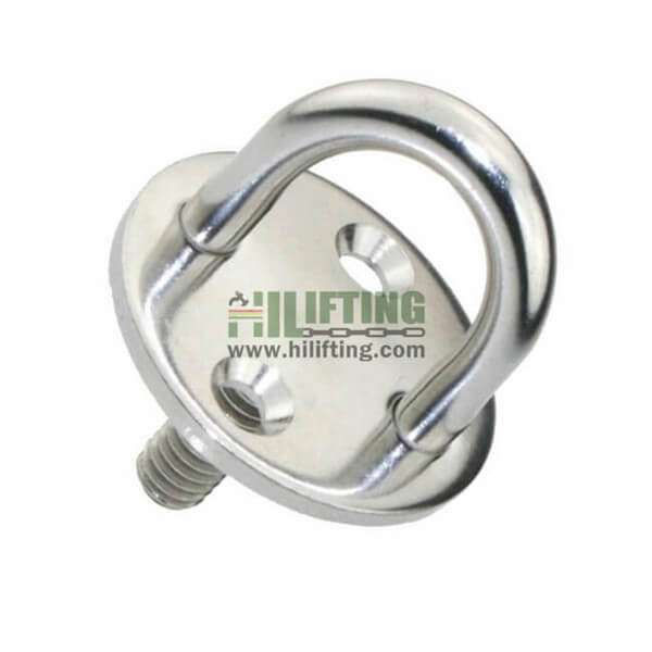 Stainless Steel Round Eye Plate With Thread Stud