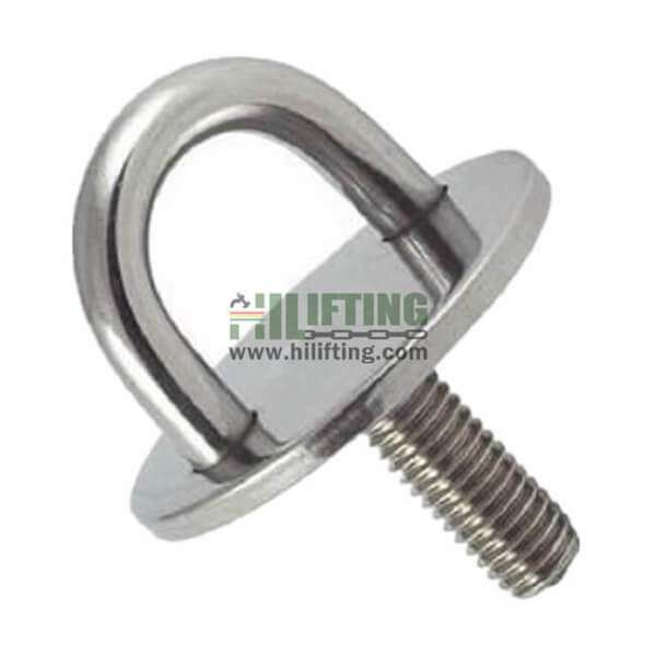 Stainless Steel Round Eye Plate With Threaded Stud