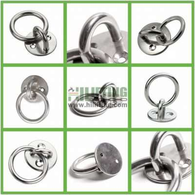 Stainless Steel Round Eye Plate with Ring Details