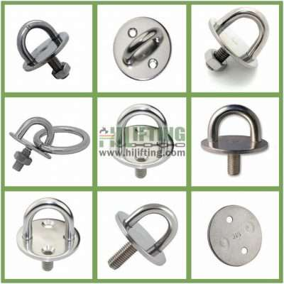 Stainless Steel Round Eye Plate with Thread Stud Details