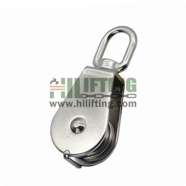 Stainless Steel Single Wheel Pulley Eye End Swivel