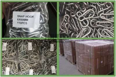 Stainless Steel Snap Hook DIN5299 Form C Packages