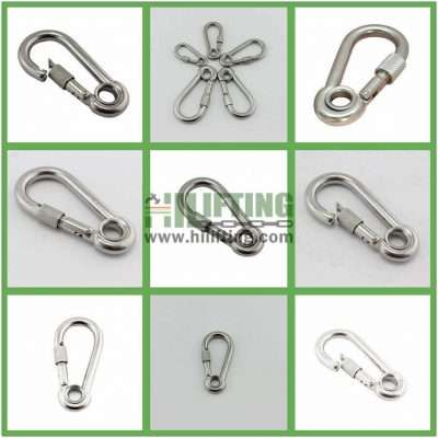 Stainless Steel Snap Hook With Eyelet and Screw Details