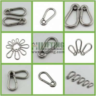 Stainless Steel Snap Hook with Eyelet Details