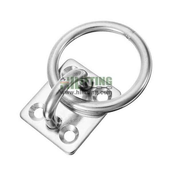 Stainless Steel Square Eye Pad Plate with Ring
