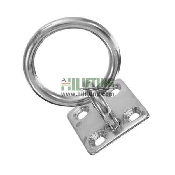 Stainless Steel Square Eye Plate with Ring
