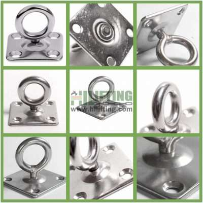 Stainless Steel Square Eye Plate with Swivel Ring Details