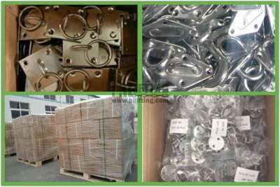 Stainless Steel Square Eye Plate with Swivel Ring Packages