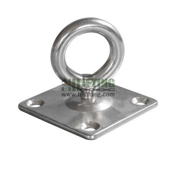 Stainless Steel Square Eye Plate with Swivel Ring