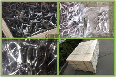 Stainless Steel Swivel Eye Snap Packages
